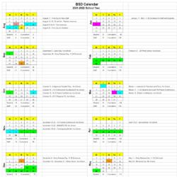 Burlington School District Calendar